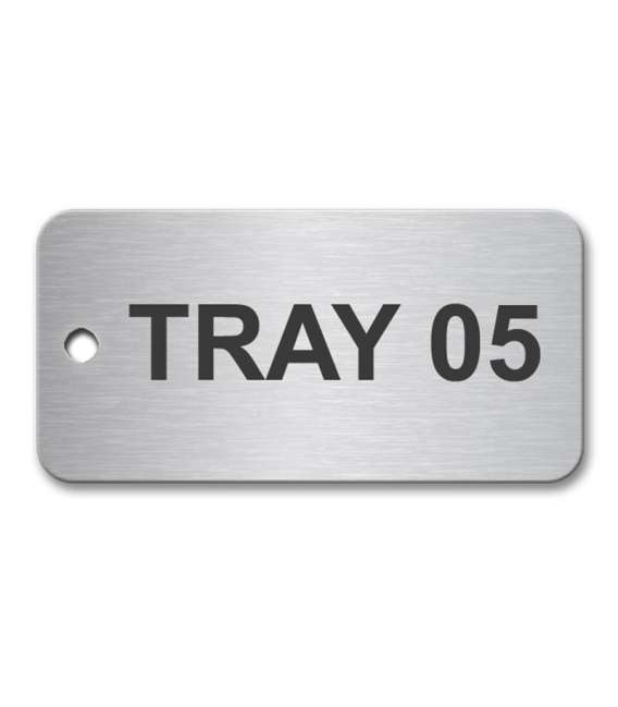 Stainless Steel Tag 50x25mm