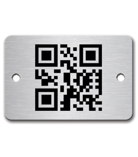 Stainless Steel Name Plate 60mm x 40mm