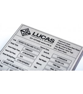 Lucas Vessel Name Plate for Curved Surface