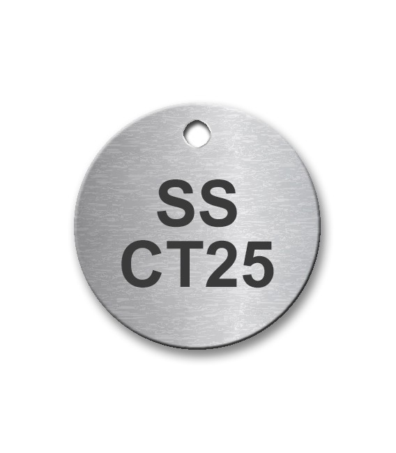 Circular 25mm Stainless Steel Tag