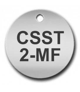 Circular 25mm Stainless Steel Tag (Matt Finish)