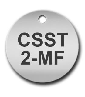 Circular 25mm Stainless Steel Tag (Matt Finish)