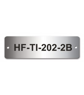 Stainless Steel Name Plate 100mm x 30mm