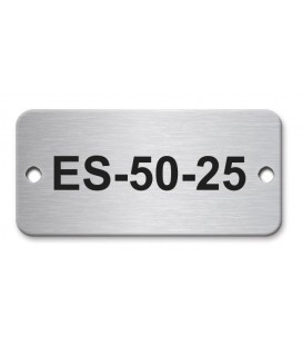 Stainless Steel Name Plate 50mm x 25mm
