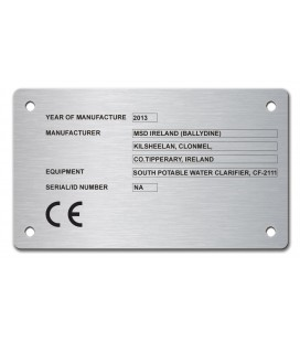 Stainless Steel Name Plate UKCA 120mm x 70mm