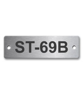 Stainless Steel Name Plate 50mm x 15mm