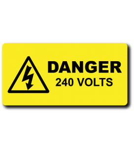 Danger 240 Volts Label
