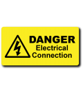 Danger Electrical Connection Label