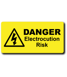 Danger Electrocution Risk Label