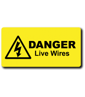 Danger Live Wires Label