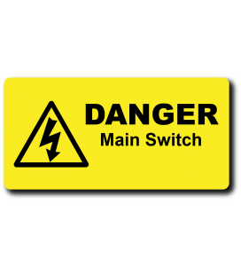 Danger Main Switch Label