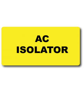 AC ISOLATOR Label