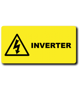 Danger INVERTER Label