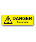 Danger Ammonia Label