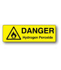 Danger Hydrogen Peroxide Label