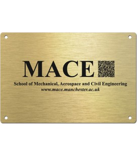 Brass Plate 300mm x 200mm - Mechanically Engraved