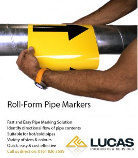 Roll-Form Pipe Markers