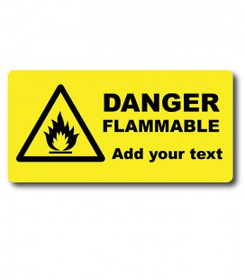 Custom Flammable Danger Labels - Engraved Traffolyte