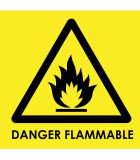 Custom Flammable Danger Labels - Engraved Traffolyte