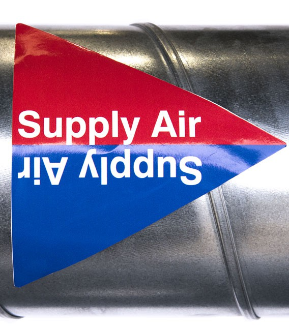 Duct Pipe ID Labels Pack x 10