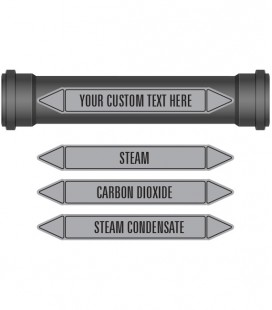 Pipe Marker 10 Pack - Steam Coloured Coded Grey
