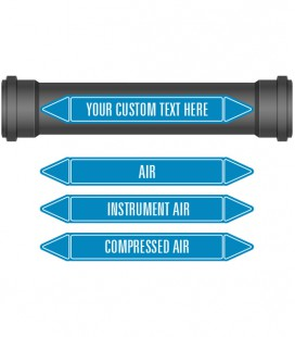 Pipe Marker 10 Pack - Air Coloured Coded Blue