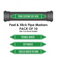 Pipe Marker 10 Pack - Water Coloured Coded Green