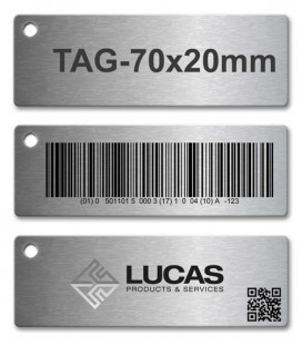 Stainless Steel Tag 70mm x 20mm 2B Matt