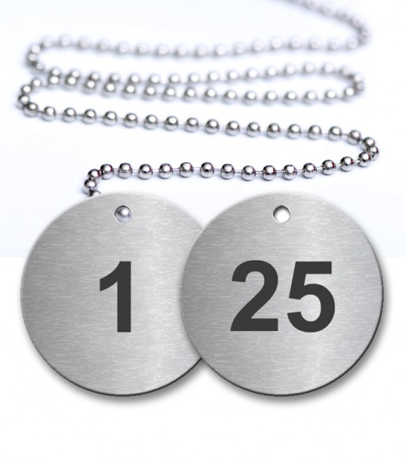 1-25 Pre-Defined Numbered Tags