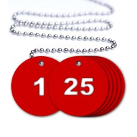 Numbered Valve Tags - 25 Pack