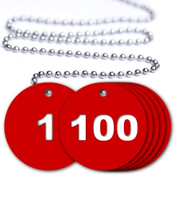 Numbered Traffolyte Tags - Pack 1 to 100