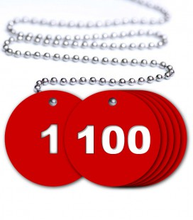 Numbered Valve Tags - 100 Pack
