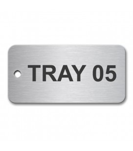 Stainless Steel Tag 50x25mm (Brush Polished)