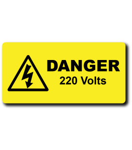 Danger Voltage Labels