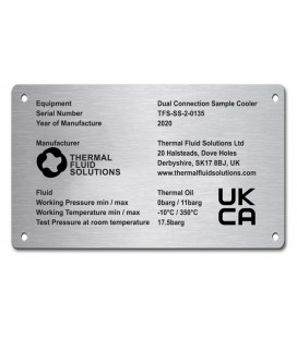 Stainless Steel Name Plate 200mm x 100mm