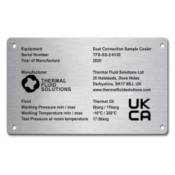 Stainless Steel Name Plate 150mm x 100mm