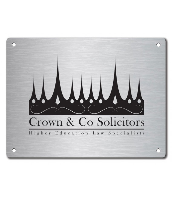 Stainless Steel Name Plate 400mm x 300mm
