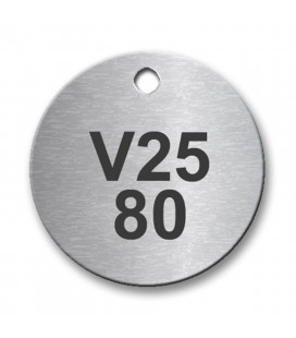 30mm Diameter Stainless Steel Tag