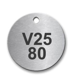 30mm Diameter Stainless Steel Tag