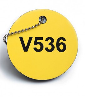 Circular Valve Tags - Thickness 1.5mm